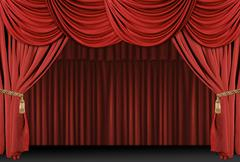 stage theatre drape background - stock photo
