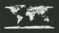 World Map on Chalk Board Stock Illustration