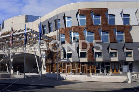 Stock photo of scottish parliament exterior