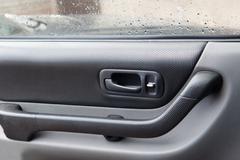 Auto oven sisäpuolella Kuvituskuvat
