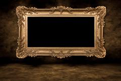 vintage blank picture frame - stock photo