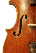 antique violin - stock photo