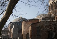 hagia sofia and little hagia sofia - stock photo