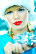 beautiful blue christmas - stock photo