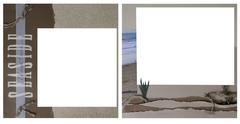 Ocean theme scrapbook frame template Stock Photos