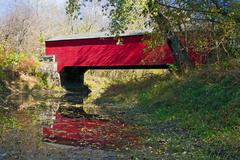 Brown County Covered Bridge - stock photo