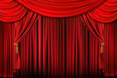 Stage in bright red dramatic lighting Stock Photos