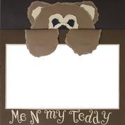 Stock Photo of teddy bear scrapbook frame template