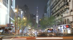 Shanghai time lapse with the Oriental Pearl Tower in the distance Stock Footage