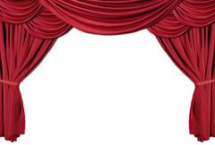 Red draped theater curtains series 2 Stock Photos