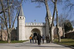 topkapi entrance - stock photo