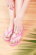female feet - stock photo