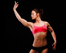 Muscular strong woman Stock Photos