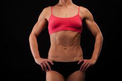 female torso - stock photo