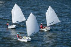 sailing boat competition - stock photo