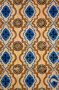vintage azulejos - stock photo