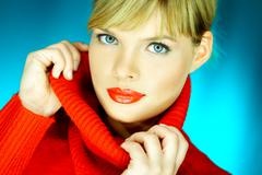 red sweater - stock photo