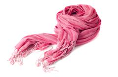Warm scarf in pink Stock Photos