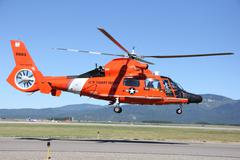 Coast Guard Helicopter.JPG Stock Photos