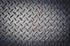 Diamond plate background Stock Photos