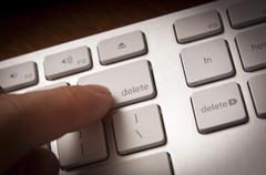 delete key - stock photo