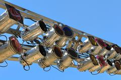 Outdoor concert lights Stock Photos