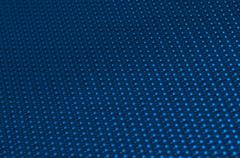 Blue metal mesh plating Stock Photos