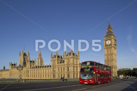Stock photo of london bus