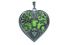 heart pendent - stock photo
