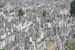 Large Cemetery - stock photo