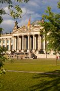 reichstag building, berlin germany - stock photo