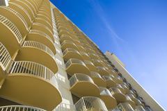 Hotel Balconies - stock photo