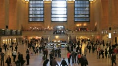 A busy Grand Central Station in New York Stock Footage