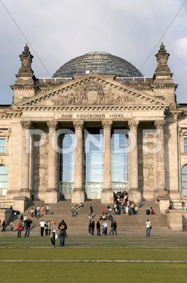 Stock photo of reichstag building berlin germany.