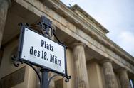 Brandenburg gate in berlin Stock Photos