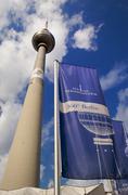 Fernsehturm in alexander platz berlin Stock Photos