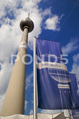 Stock photo of fernsehturm in alexander platz berlin
