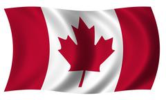 Canada flag in wave Stock Illustration