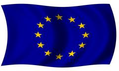 European union flag in wave Stock Illustration