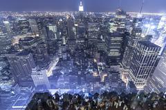 New York Observation Deck Stock Photos