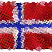 Norway flag in flowers Stock Illustration