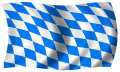 bavaria flag in wave - stock illustration