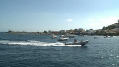 Mediterranean marina Stock Footage