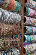 indian bangles for sale - stock photo