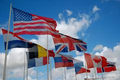 D-Day Museum Flags.JPG - stock photo