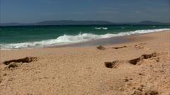 Comporta beach ocean  - Setubal, Portugal Stock Footage