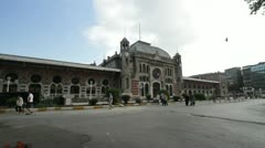 The main train station, Sirkeci Terminal, home to the Orient Express in Istanbul Stock Footage