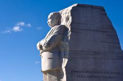 martin luther king memorial in washington dc - stock photo