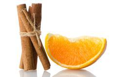 Stock Photo of one orange fruit segment