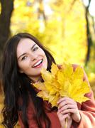 beauty during autumn - stock photo